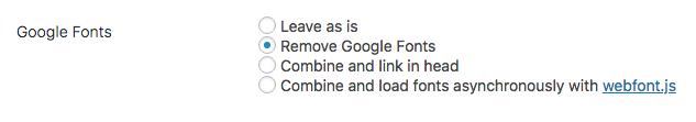 Remove google Font