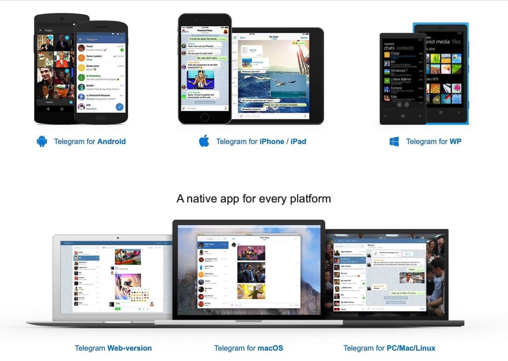 Platforms Telegram Available