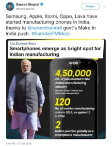 Mobile Manufacturing in India