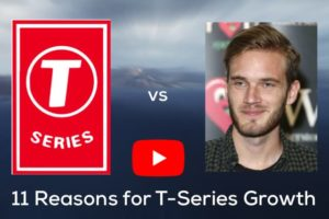 TSeries and PewdiePie on YouTube