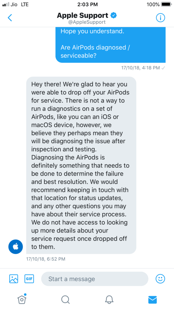 AirPods are not servicable