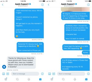 AirPods conversation with Apple Twitter Support