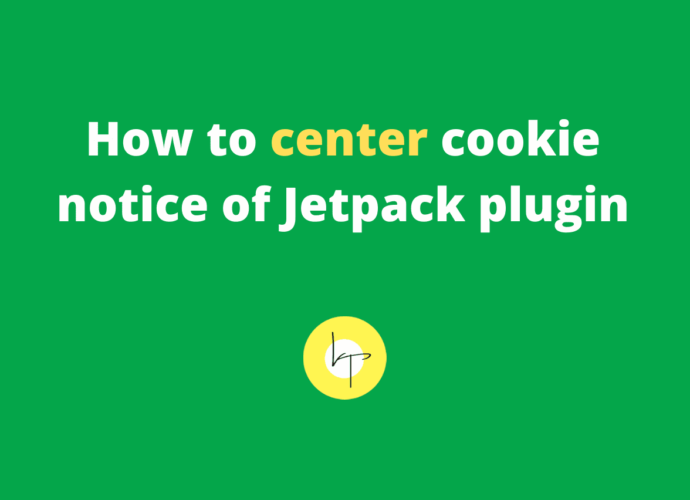 How to center cookie text notice of Jetpack plugin