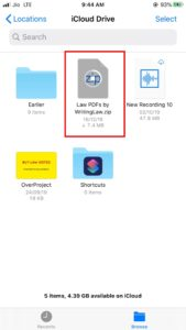 Tap the ZIP file to unzip all PDFs in folder