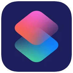 Apple Shortcuts app icon on iPhone and iPad