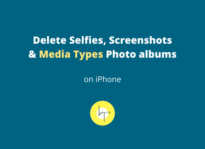 How to delete Selfies, Screenshots and Media Types albums in Photos app on iPhone