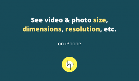How to see photo and video size on iPhone and iPad