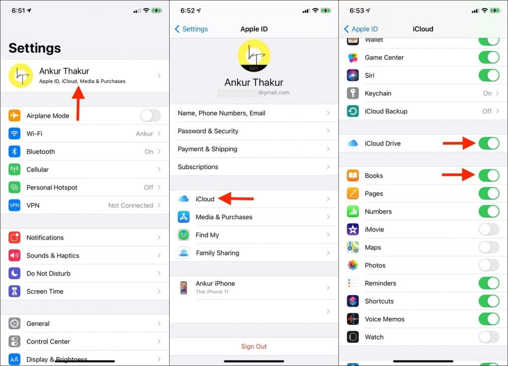 How to sync books from iPhone to iPad