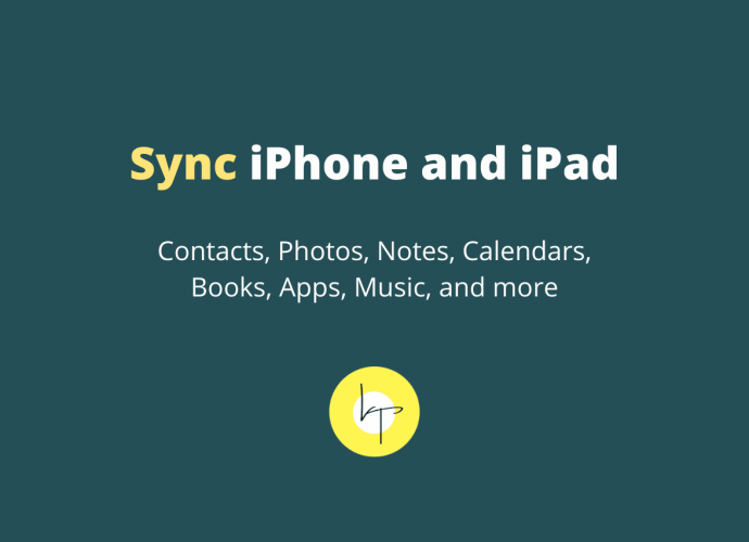 How to sync iPhone and iPad