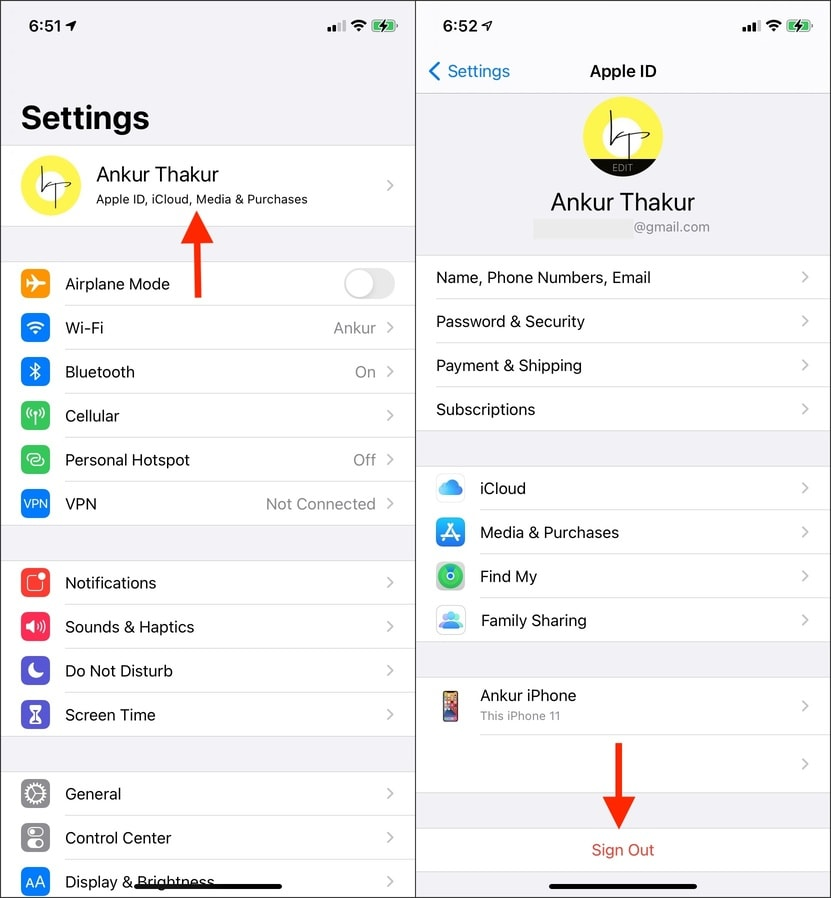 How to unsync iPhone from iPad