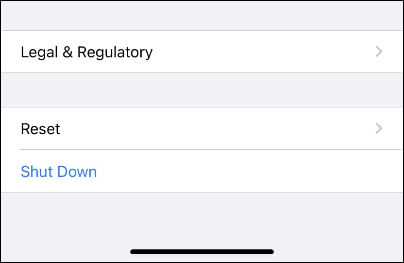Reset Settings on iPhone