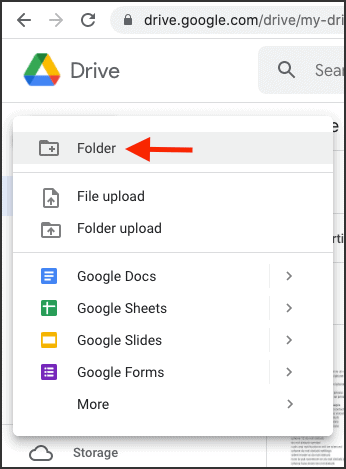 To make ZIP file without MACOSX folder click Folder in Google Drive on Mac