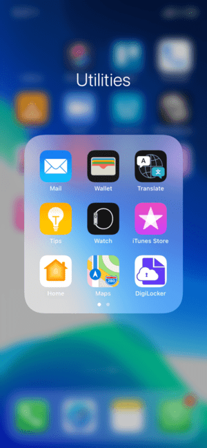 Create folders on iPhone to organize apps