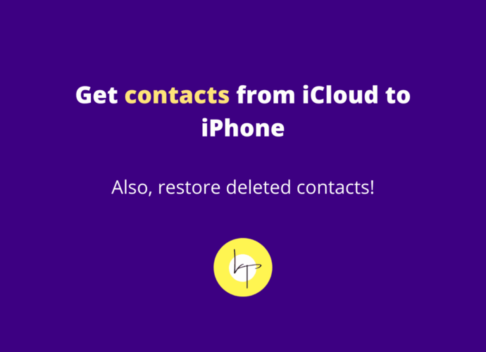 How to get contacts from iCloud to iPhone